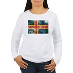 Aland Flag Women's Long Sleeve T-Shirt