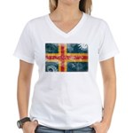 Aland Flag Women's V-Neck T-Shirt