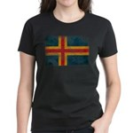 Aland Flag Women's Dark T-Shirt