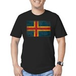Aland Flag Men's Fitted T-Shirt (dark)