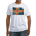 Aland Flag Fitted T-Shirt