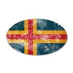 Aland Flag 22x14 Oval Wall Peel