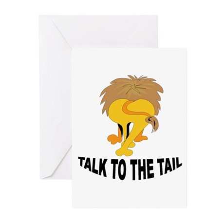 Talk To The Tail Lion Greeting Cards (Pk of 20)