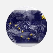 Alaska Flag Ornament (Round)