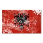 Albania Flag Sticker (Rectangle 50 pk)