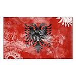 Albania Flag Sticker (Rectangle)