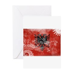 Albania Flag Greeting Card