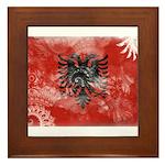 Albania Flag Framed Tile