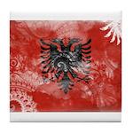 Albania Flag Tile Coaster