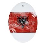Albania Flag Ornament (Oval)