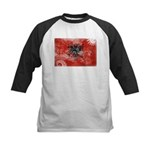 Albania Flag Kids Baseball Jersey