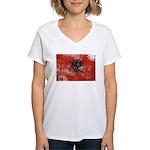 Albania Flag Women's V-Neck T-Shirt