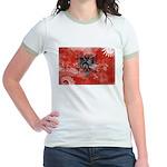 Albania Flag Jr. Ringer T-Shirt