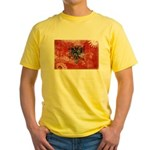 Albania Flag Yellow T-Shirt