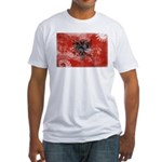 Albania Flag Fitted T-Shirt