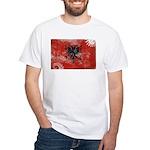 Albania Flag White T-Shirt