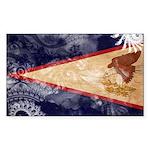 American Samoa Flag Sticker (Rectangle 10 pk)