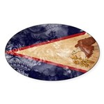 American Samoa Flag Sticker (Oval 10 pk)