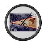 American Samoa Flag Large Wall Clock