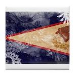 American Samoa Flag Tile Coaster