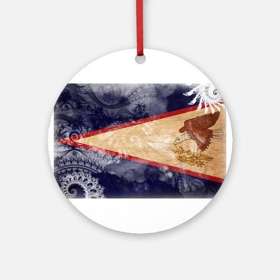 American Samoa Flag Ornament (Round)