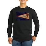 American Samoa Flag Long Sleeve Dark T-Shirt