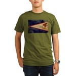 American Samoa Flag Organic Men's T-Shirt (dark)