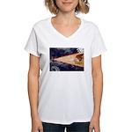 American Samoa Flag Women's V-Neck T-Shirt