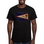 American Samoa Flag Men's Fitted T-Shirt (dark)