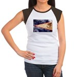 American Samoa Flag Women's Cap Sleeve T-Shirt