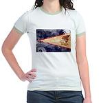American Samoa Flag Jr. Ringer T-Shirt