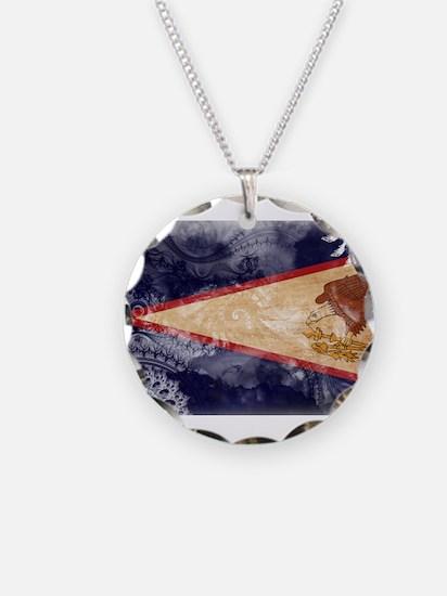 American Samoa Flag Necklace