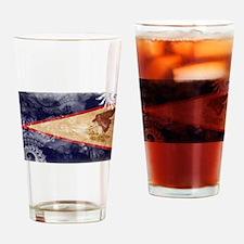 American Samoa Flag Drinking Glass