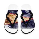 American Samoa Flag Flip Flops