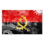Angola Flag Sticker (Rectangle 10 pk)