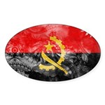 Angola Flag Sticker (Oval 50 pk)