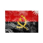 Angola Flag Rectangle Magnet