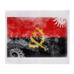 Angola Flag Throw Blanket