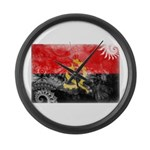 Angola Flag Large Wall Clock