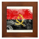 Angola Flag Framed Tile