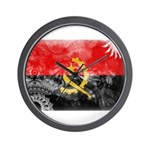 Angola Flag Wall Clock