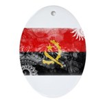 Angola Flag Ornament (Oval)