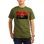 Angola Flag Organic Men's T-Shirt (dark)