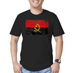 Angola Flag Men's Fitted T-Shirt (dark)