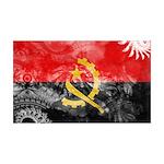 Angola Flag 38.5 x 24.5 Wall Peel
