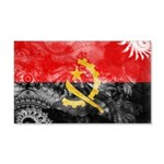 Angola Flag 22x14 Wall Peel