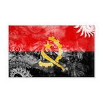 Angola Flag 22x14 Wall Peel