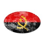 Angola Flag 22x14 Oval Wall Peel