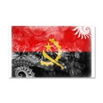 Angola Flag Car Magnet 20 x 12