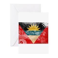 Antigua and Barbuda Flag Greeting Cards (Pk of 20)